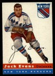 1954 Topps #14  Jack Evans  Front Thumbnail