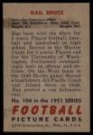 1951 Bowman #104  Gail Bruce  Back Thumbnail