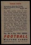 1951 Bowman #88  Tobin Rote  Back Thumbnail