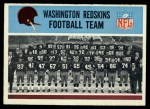 1966 Philadelphia #183   Redskins Team Front Thumbnail