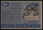 1955 Topps #83  Ted Coy  Back Thumbnail