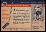 1954 Topps #25  Fern Flaman  Back Thumbnail