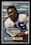 1951 Bowman #116  Sherman Howard  Front Thumbnail