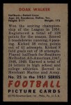 1951 Bowman #25  Doak Walker  Back Thumbnail