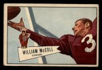 1952 Bowman Small #60  Bill McColl  Front Thumbnail
