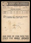 1959 Topps #173  Bobby Joe Conrad  Back Thumbnail