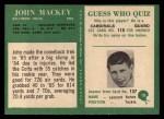 1966 Philadelphia #18  John Mackey  Back Thumbnail