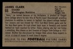 1952 Bowman Small #66  James Clark  Back Thumbnail