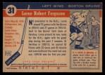 1954 Topps #31  Lorne Ferguson  Back Thumbnail