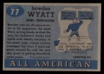 1955 Topps #77  Bowden Wyatt  Back Thumbnail