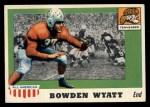 1955 Topps #77  Bowden Wyatt  Front Thumbnail