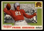 1955 Topps #69  Frank Sinkwich  Front Thumbnail