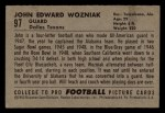 1952 Bowman Small #97  John Wozniak  Back Thumbnail