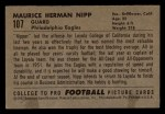1952 Bowman Small #107  Maurice Nipp  Back Thumbnail