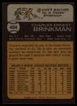 1973 Topps #404  Chuck Brinkman  Back Thumbnail
