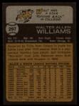 1973 Topps #297  Walt Williams  Back Thumbnail