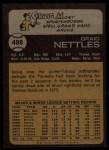 1973 Topps #498  Graig Nettles  Back Thumbnail