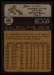 1973 Topps #528  Paul Blair  Back Thumbnail