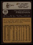 1973 Topps #460  Bill Freehan  Back Thumbnail