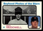 1973 Topps #342   -  Sam McDowell  Boyhood Photo Front Thumbnail