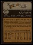 1973 Topps #411  Ray Corbin  Back Thumbnail