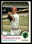 1973 Topps #327  John Lowenstein  Front Thumbnail