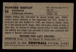 1952 Bowman Small #64  Howard Hartley  Back Thumbnail