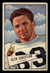 1952 Bowman Small #54  Glen Christian  Front Thumbnail