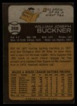 1973 Topps #368  Bill Buckner  Back Thumbnail