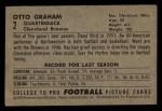 1952 Bowman Small #2  Otto Graham  Back Thumbnail
