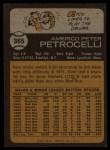 1973 Topps #365  Rico Petrocelli  Back Thumbnail