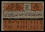 1972 Topps #173  Clay Kirby  Back Thumbnail