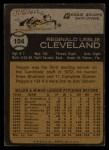 1973 Topps #104  Reggie Cleveland  Back Thumbnail