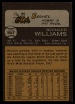 1973 Topps #557  Bernie Williams  Back Thumbnail