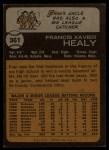 1973 Topps #361  Fran Healy  Back Thumbnail