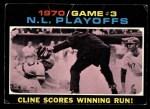 1971 Topps #201   -  Ty Cline / Manny Sanguillen 1970 NL Playoffs - Game 3 - Cline Scores Winning Run Front Thumbnail
