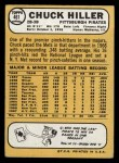 1968 Topps #461  Chuck Hiller  Back Thumbnail
