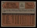 1972 Topps #529  Dave Nelson  Back Thumbnail