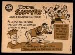 1960 Topps #226  Eddie Sawyer  Back Thumbnail