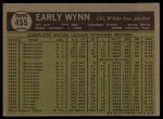 1961 Topps #455  Early Wynn  Back Thumbnail