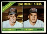 1966 Topps #333   -  Joe Coleman / Jim French Senators Rookies Front Thumbnail
