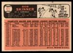 1966 Topps #471  Bob Skinner  Back Thumbnail