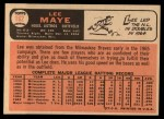 1966 Topps #162  Lee Maye  Back Thumbnail