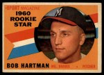 1960 Topps #129   -  Bob Hartman Rookie Star Front Thumbnail