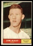 1961 Topps #63  Jim Kaat  Front Thumbnail