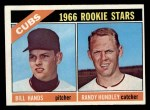 1966 Topps #392   -  Randy Hundley / Bill Hands Cubs Rookies Front Thumbnail