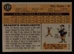 1960 Topps #157  Rocky Nelson  Back Thumbnail