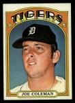 1972 Topps #640  Joe Coleman  Front Thumbnail