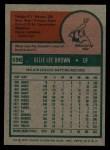 1975 Topps #596  Ollie Brown  Back Thumbnail