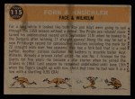 1960 Topps #115   -  Hoyt Wilhelm / Roy Face Fork & Knuckler Back Thumbnail